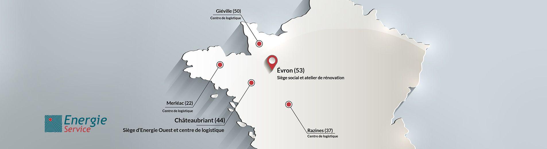 situation géographique énergie service et ses filiales
